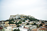 Greece, Athens, the Parthenon temple in the Acropolis surrounded by the city - GEMF01399