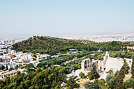 Greece, Athens, The city and The Odeon of Herodes Atticus as seen from the Acropolis - GEMF01402