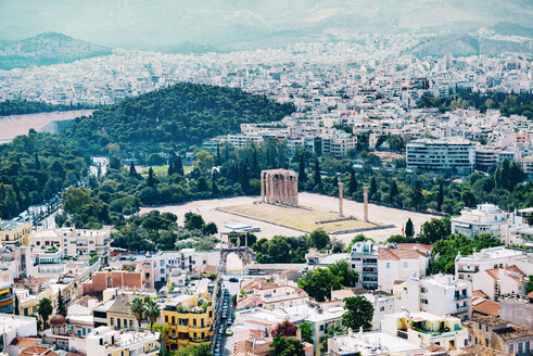Greece, Athens, The Olympieion and the city as seen from The Acropolis - GEMF01408
