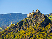 Italy, South Tyrol, Old castle in the mountains - LOM00471