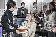 Birthday office suprise with cake and champagne - ZEF12526