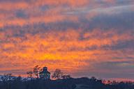Germany, Baden-Wuerttemberg, Constance, Reichenau island, Hochwart at sunset - KEBF00459