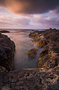 Spain, Tenerife, sea at dusk, long exposure - SIPF01378