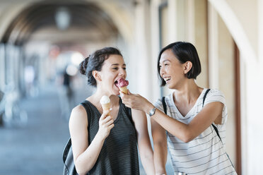 Two young women with ice cream cones - ALBF00115
