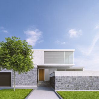 Modern one-family house, 3D Rendering - UWF01108