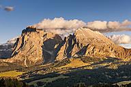 Italy, South Tyrol, Seiser Alm, Langkofel and Plattkofel - EGBF00213