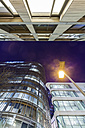 Facades of lighted office buildings in the evening - WDF03865