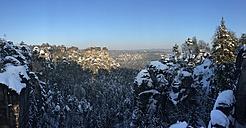 Germany, Saxony, Saxon Switzerland, Bastei region in winter - JTF00801