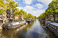 Netherlands, Amsterdam, houseboats at Brouwersgracht - WDF03887