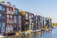 Netherlands, Amsterdam, Borneo Island, modern terraced houses at Scheepstimmermanstraat - WDF03890