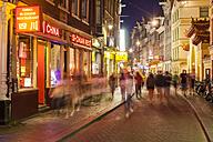 Netherlands, Amsterdam, De Wallen district at night - WD03902