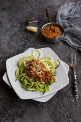 Zoodles with vegetarian bolognese sauce and parmesan - SARF03175