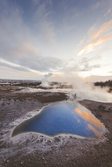 Iceand, Haukadalur valley, Geothermal site with hot spring - EPF00319