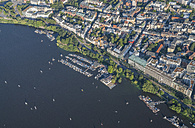 Germany, Hamburg, aerial view of Outer Alster Lake with marina - PVCF00970
