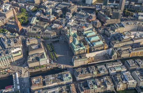 Germany, Hamburg, aerial view of city hall - PVCF00973