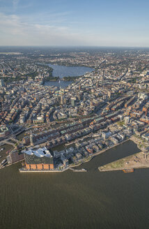 Germany, Hamburg, aerial view of the city - PVCF00988
