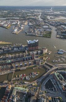 Germany, Hamburg, aerial view of the Elbphilharmonie - PVCF00991