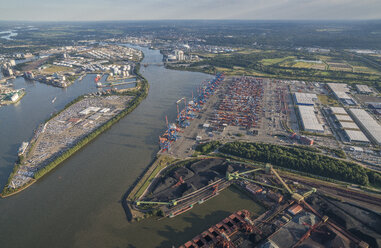Germany, Hamburg, aerial view of the car terminal - PVCF00994