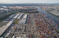 Germany, Hamburg, aerial view of container terminal Altenwerder - PVCF01000