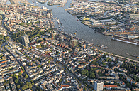 Germany, Hamburg, aerial view of St. Pauli - PVCF01009