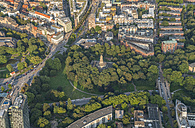 Germany, Hamburg, aerial view of Mitte with Alter Elbpark and Bismarck Monument - PVCF01012