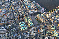 Germany, Hamburg, aerial view of Hamburg old town with city hall - PVCF01015
