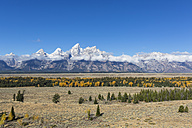 USA, Wyoming, Rocky Mountains, Grand Teton National Park, Cathedral Group - FOF08855