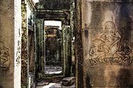 Cambodia, Angkor Wat, Angkor Thom, Bayon temple, stone relief - REAF00213