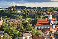 Lithuania, Vilnius, view to the old town from Gediminas Tower - CSTF01225