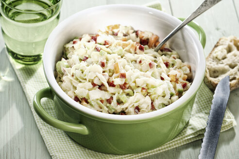 Pot of Coleslaw apple salad - IPF00360