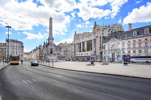 Portugal, Lisbon, view to Praca dos Restauradores - VT00585