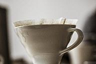 Used porcelain coffee filter - SKAF00043