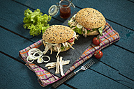 Pulled chicken burger - MAEF12169