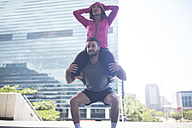 Couple exercising in the city - ZEF12935