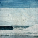 France, Contis-Plage, breaking wave, textured photography - DWIF00824