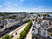 France, Amboise, view to the old town from above - AMF05285