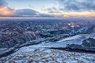 Italy, Marche, Apennines, Winter sunrise - LOMF00519