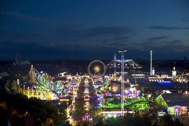Germany, Munich, view to Oktoberfest at night - MMAF00057