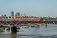 Poland, Warsaw, cityscape with Poniatowski Bridge above Vistula - CSTF01263