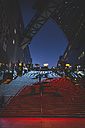 Japan, Kyoto, central station with illuminated stairs - KEB00503