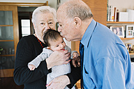 Great-grandparents with baby at home - GEMF01517