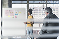 Woman leading a presentation in office - UUF10004