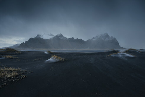 Iceland, Vestrahorn Mountain under a storm - EPF00367