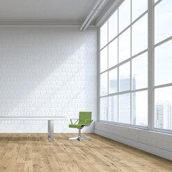 Single swivel chair in an empty loft, 3D Rendering - UWF01136