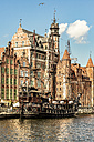 Poland, Gdansk, old town, pirate ship on Motlawa river - CST01277