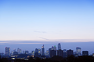UK, London, skyline at blue hour - BRF01422