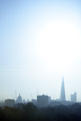 UK, London, skyline with St Paul's Cathedral and The Shard in morning light - BRF01428
