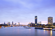 UK, London, skyline with River Thames at dawn - BRF01431