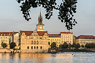 Czechia, Prague, view to Bedrich Smetana Museum at sunset - CSTF01308