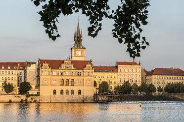 Czechia, Prague, view to Bedrich Smetana Museum at sunset - CSTF01308